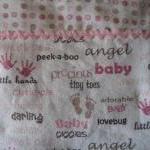 Sweet Baby Words Blanket